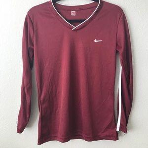 Maroon athletic Nike top